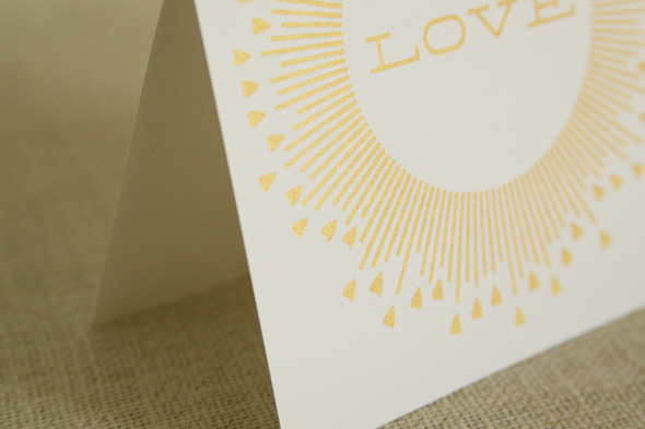 Etsy screen printed card