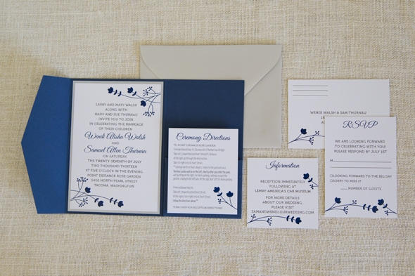 Wendi Sam Wedding Invitation