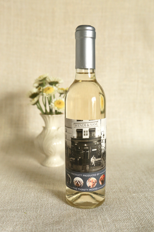 Wedding Wine Label Wendi Sam