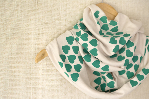 screen printed scarf