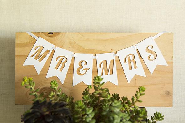 wedding banner Faye Champlin Studio