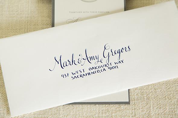 Andrea Scott Wedding Calligraphy