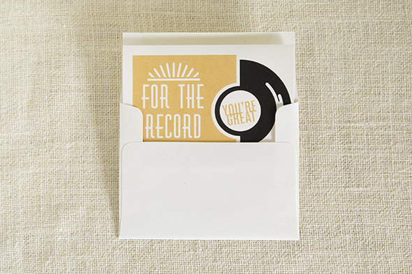 Youre Great Record Card