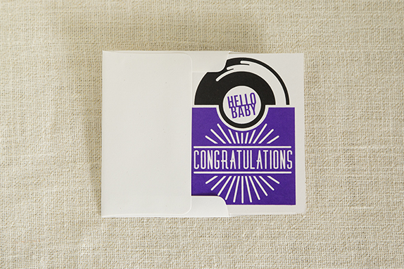 Congratulations New Baby Record Card