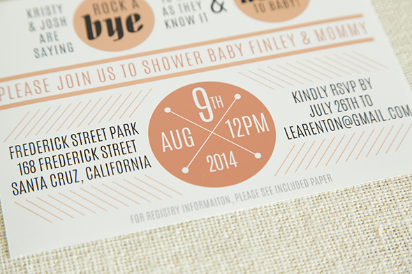 modern baby shower invitation
