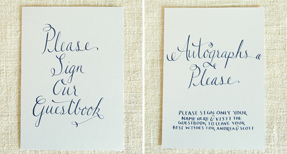 Wedding Calligraphy AS