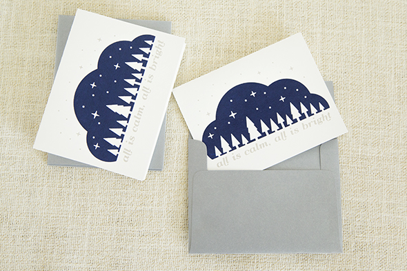 Screenprint Christmas Card