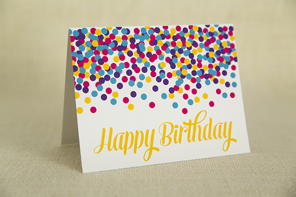 Happy Birthday Card Confetti