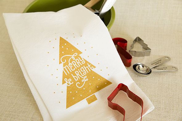 Screenprint Christmas Towel