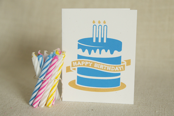 Etsy Birthday Card Screen Printed