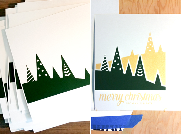Screen print Christmas Card