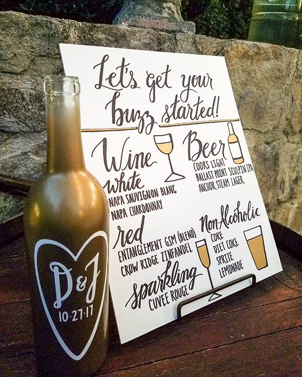 winery wedding decor