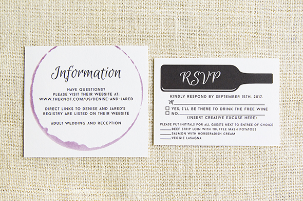Winery wedding invitation
