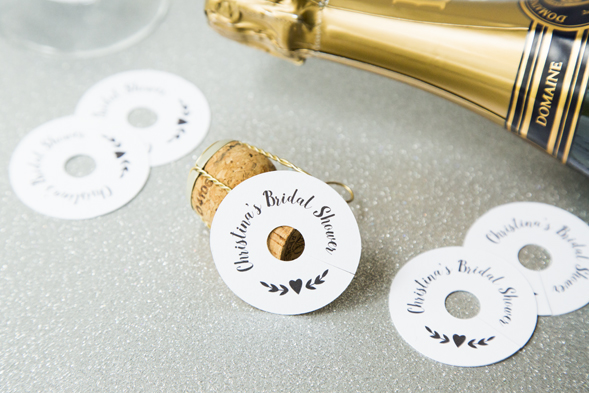 wine glass drink tags
