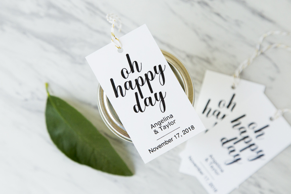 oh happy day favor tags