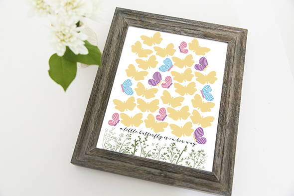 butterfly guestbook