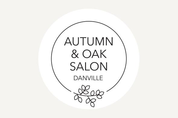 logo design for Autumn and Oak Salon