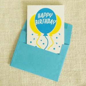 Etsy Birthday Card Screen Printed