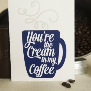 Screen printed love card