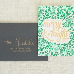 Screen printed Christmas cards