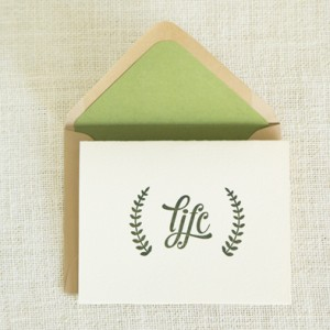 Custom Letterpress Stationery