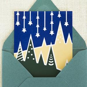 Screen print Christmas Card