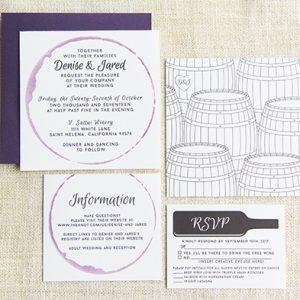 Winery wedding invitation